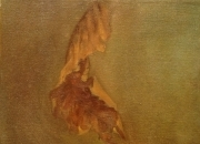 DRY LEAF, 25x25, oil on canvas, 2011