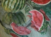 WATERMELONS, 70x70, oil on canvas, 2009