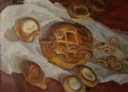 BREAD, 70x70, oil on canvas, 2011