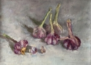 GARLIC, 24x30, oil on canvas, 2010