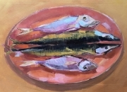 THE WAY OF THE FISH, 34x57cm, oil on canvas, 2020