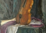 VIOLIN, 90x50, oil on canvas, 2010
