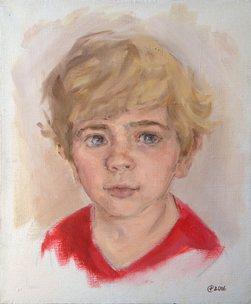 LORENZO, 30x25, oil on canvas, 2016