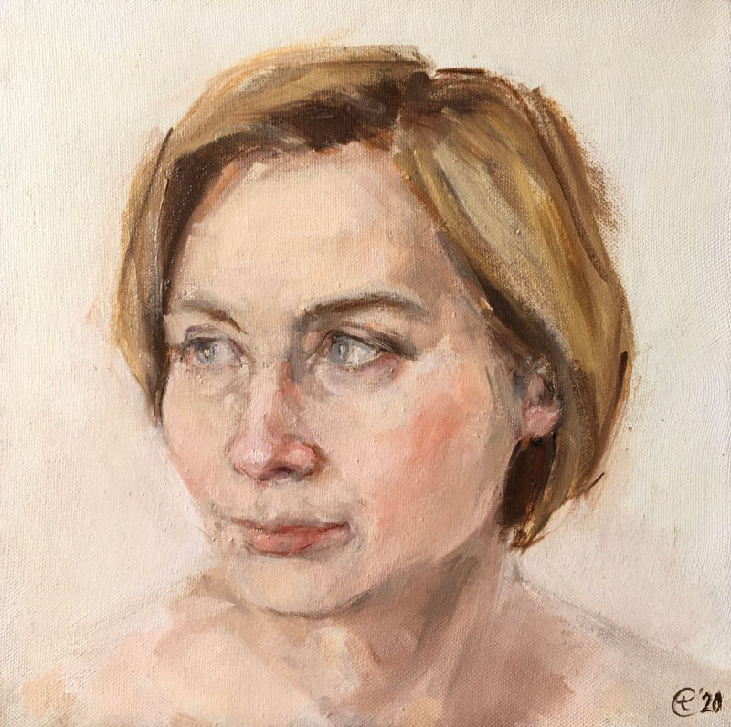 XENIA, 25x25, oil on canvas, 2015